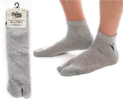 Athletic Flip Flop Socks - Gray (3 Pairs)