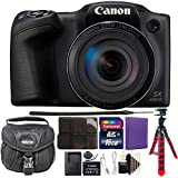 Canon Powershot SX430 IS 20MP Digital Camera 45x Optical Zoom Black Wi-Fi/NFC with 16GB Kit