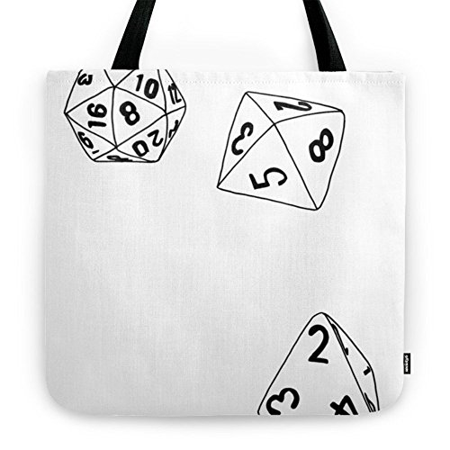 "Society6 Dungeons And Dragons Dice Tote Bag 18"" x 18"""