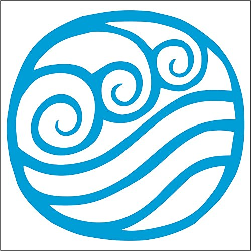 Cove Signs Water Tribe Decal - Katara - Sokka - Avatar The Last Airbender - Blue - 4