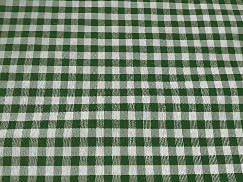 1/8th Inch Checkered-Gingham Hunter Green 45 Inch Wide Fabric By the Yard From The Fabric Exchange ®