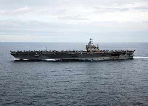 Home Comforts Laminated Poster The Nimitz-Class Aircraft Carrier USS Theodore Roosevelt (CVN 71) Enters The Atlantic Ocean After tr Vivid Imagery Poster Print 24 x 36 ()