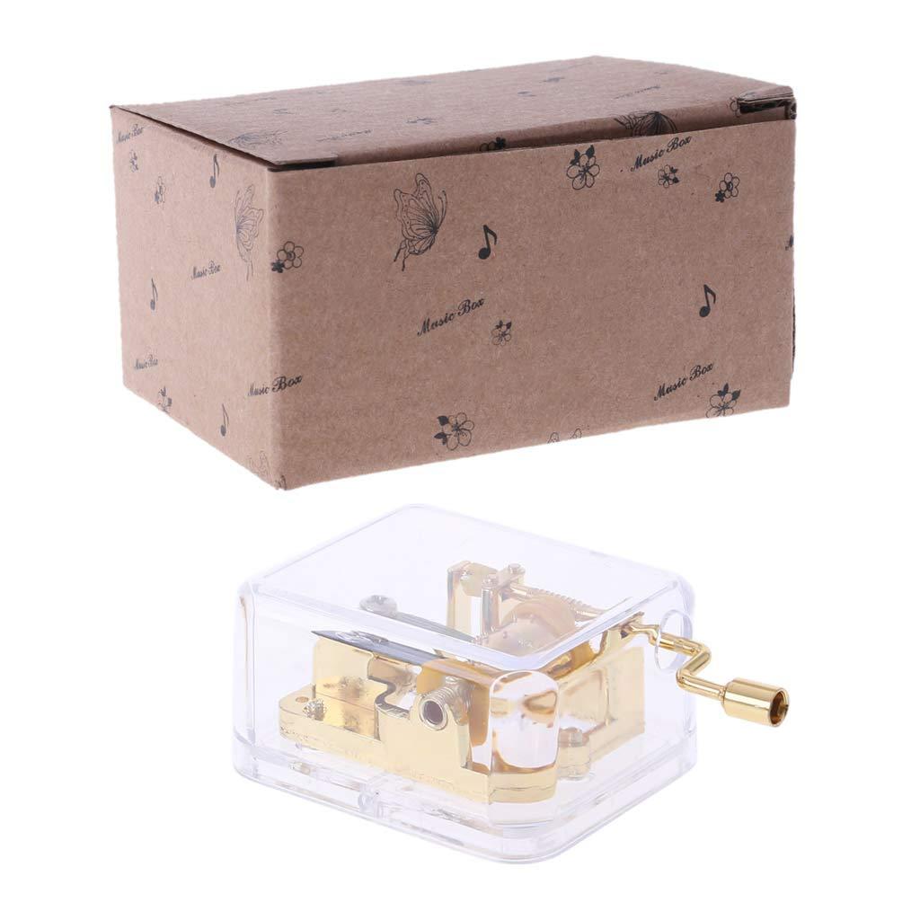 Exing Music Box Mechanism - Carillon Dorato Elegante Musicale Classico
