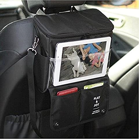 Car Travel Icebag Storage Bag Cool Wrap Bottle Bag Heat Preservation with iPad Bracket Touch Screen Tablet (Wrap Brackets)