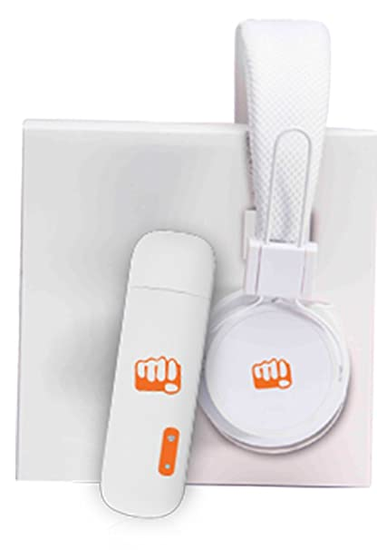 Micromax MMX 219W 3G USB Modem Data Card (White) with Headphone (White)