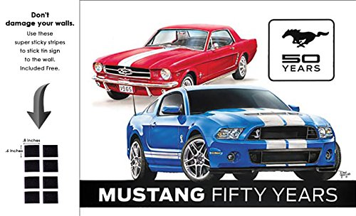 Shop72 - Tin Sign Ford Mustang 50th Vintage Tin Sign Retro Metal Sign