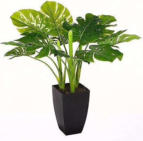 Generique Plante Verte Artificielle 77 Cm Avec Pot Amazon Fr Cuisine Maison