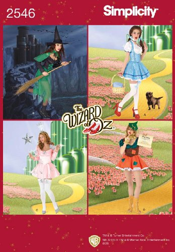 Dorothy Wizard Of Oz Costume Pattern (Simplicity Sewing Pattern 2546 Misses Costumes, K5 (8-10-12-14-16))