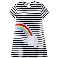 CHOUREN 2-7 Year Old Summer Little Girls Clothes Children's Clothing KIDS Lovely CUTE Cartoon Cotton Stripe Rainbow…