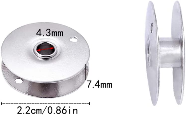 HEALLILY n/ähmaschinenspule industrien/ähmaschinen metallspulen Handwerk n/ähmaschinenspulen 3 st/ücke Silber