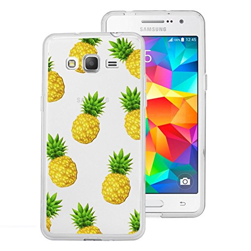 Grand Pineapple (Samsung Galaxy Grand Prime Case, Eouine Ultra Slim Premium TPU Gel Rubber Soft Skin Silicone Protective Case Cover for Samsung Galaxy Grand Prime G530 Fruit Back Cover,Pineapple )