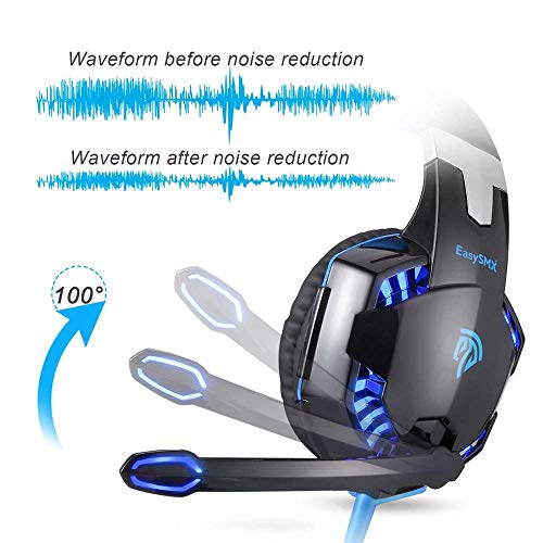 EasySMX G2000 3.5mm Gaming Headset Mic LED Headphones for PC MAC PS4 Xbox ONE 360