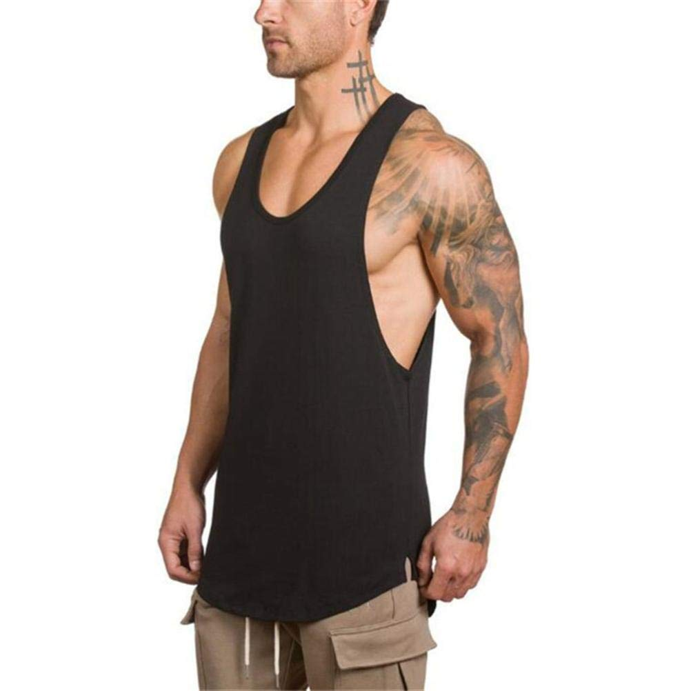 Gym Vest Men Bodybuilding,Overdose Mens Gyms Bodybuilding Fitness Muscle Sleeveless Singlet T-Shirt Top Vest Tank Top