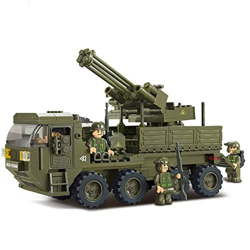 Sluban Building and Construction Blocks M38-B0302 Heavy Transporter Building Block Construction Set (306 Piece) (Lego Tank)