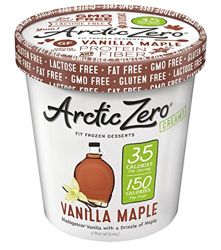 Low Carb Yogurt (ARCTIC ZERO Fit Frozen Desserts - 6 Pack - Vanilla Maple Creamy Pint)