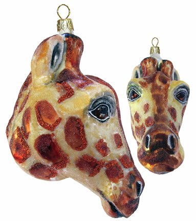 Slavic Treasures WIL081003 Giraffe Head Blown Glass Ornament