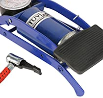 WINOMO Blue Foot Floor Pump with Gauge for Bicycles Motorcycles Cars Electric Bicycle And Ball Airbed