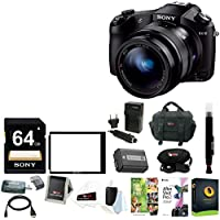 Sony DSCRX10 Cybershot 20.2 MP Digital Camera with Deluxe Accessory Bundle