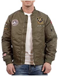 Tokyo Laundry Men's Bomber Jacket with Patches