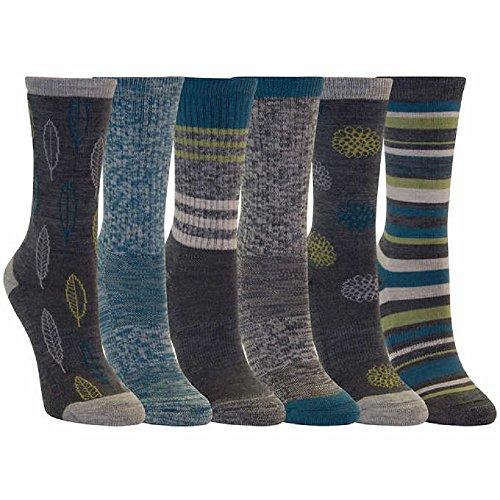 Kirkland Signature Ladies' Trail Sock, 6-pack (Blue)
