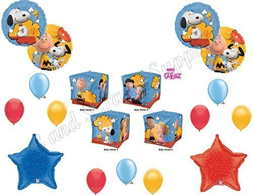 Peanuts Charlie Brown CUBEZ Balloons Decoration Supplies Party Snoopy New Movie! (Snoopy Party Supplies compare prices)