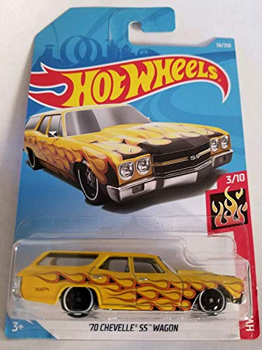 Hw Flames 3/10 - '70 Chevelle SS Wagon (Yellow)