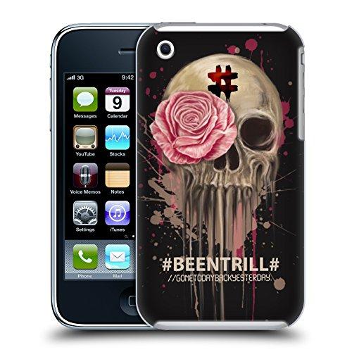 Official Been Trill Splatter Floral And Skulls Hard Back Case for Apple iPhone 3G / 3GS