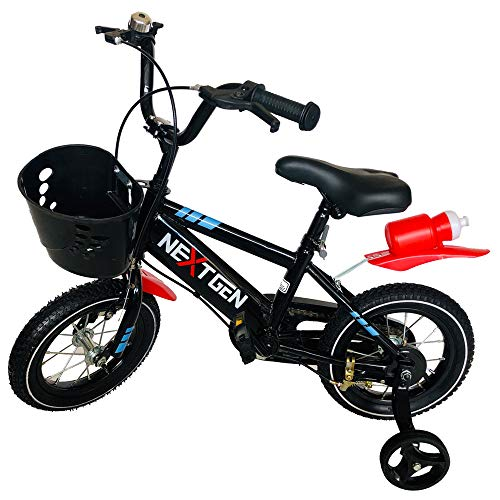 NextGen 12BK 12 Inch Balance and Coordination Bike with Training Wheels, Black