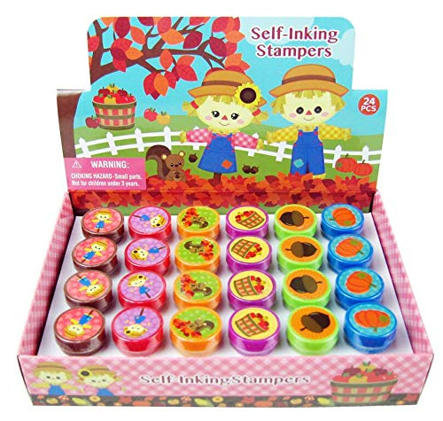 TINYMILLS 24 Pcs Fall Stampers for Kids ()