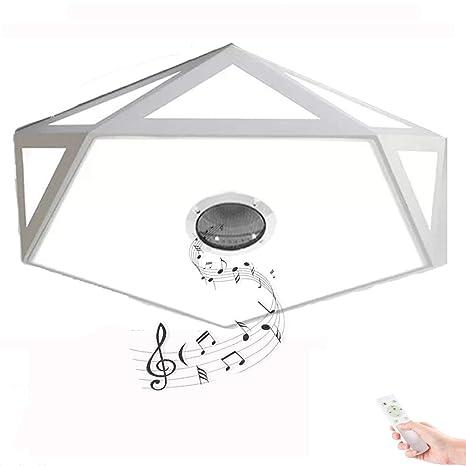 HOREVO 24W Ø40cm Nórdica Moderna LED Lámpara de techo con Mando a Distancia, Altavoz Bluetooth, APP, Plafón sala de estar dormitorio colgante luz ...