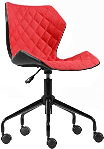 Modern Home Ripple Mid-Back Office Chair Black/Red