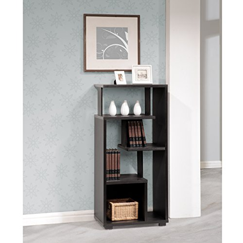 - Flash Furniture Morristown Collection Bookshelf in Espresso Wood Finish