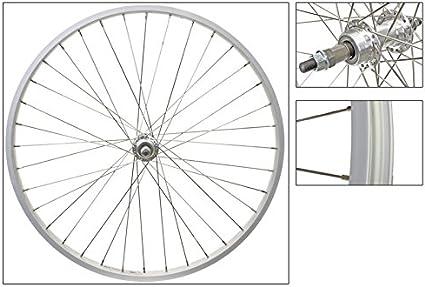 "Beach Cruiser bike 26/""x 25mm Wheels Wheelset Rims White"