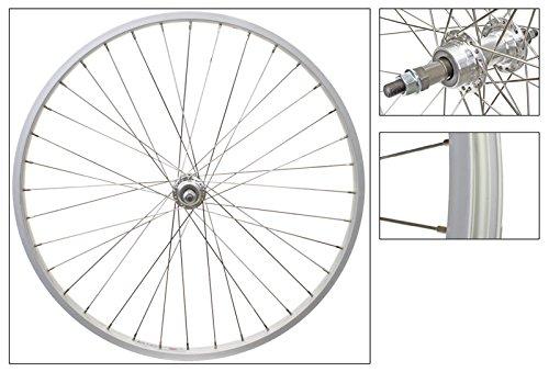 Wheel Master Rear 26 x 1.75/2.125, Silver, Alloy, B/O, 5/6/7 sp, 36H, SS14g Spokes by WheelMaster