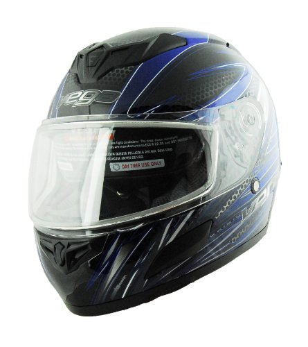 Vega Insight Snow Full Face Helmet with Razor Graphic (Blue, Medium) (Vega Snow Helmet)