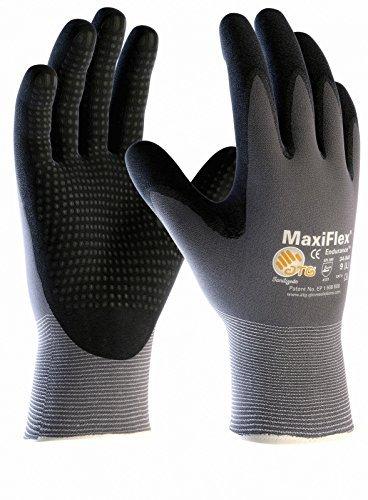 gants de travail enduits nitrile avec picots nitrile 3 Paires de MaxiFlex Endurance Taille:L