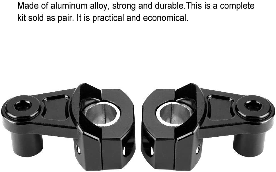 1 Paar Aluminium-Legierung Fahrradhalter Schellen Lenkerklemmen Riser mit 22mm oder 28mm Riser Motorrad