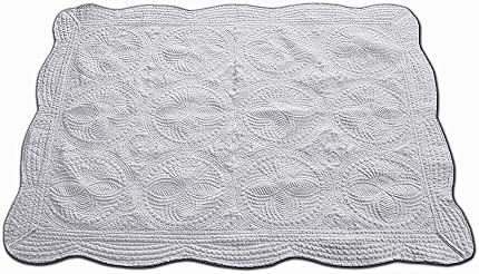 USTIDE Lightweight All Weather Embossed Detail Cotton Quilt for Babies and Toddlers,35.8x45.3-Grey