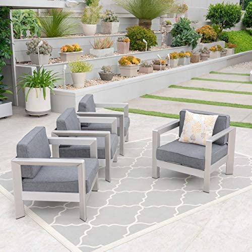 Christopher Knight Home 306463 Booth Outdoor Aluminum Club Chairs