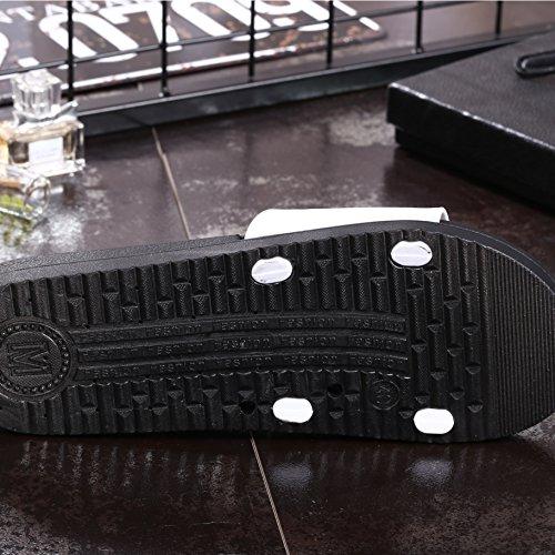Auspicious beginning Cute Carton Printed Slippers Casual Indoor Sandals for Men and Women smile white MFxf4jViQ