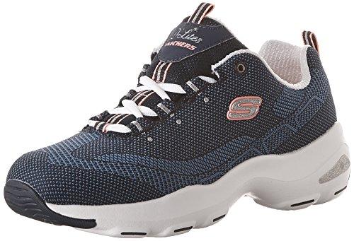 Laufschuh mit Navy Skechers Schnüren Cooled Walking Memory Zum Einlegesohle Damen Air Blau sportlicher aus Komfort Foam Ultra Sneakers D'Lite und q8qHAg
