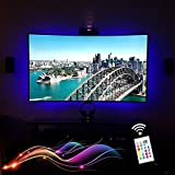 Maylit(tm)LED USB TV Backlighting Strip Home Theater Under Cabinet Shelf Lighting For 40'' to 60'' HDTV Flat Screen TV and PC Monitor- RGB 16 Multi Color Changing 24keys Remote Included,Better Light Three Side of the Screen(Promotion Season)