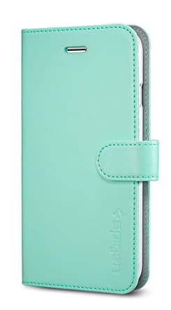 finest selection 55dba edc79 iPhone 6s Plus Case, Spigen Wallet S iPhone 6 Plus Case with Foldable Cover  and Kickstand Feature for iPhone 6S Plus/iPhone 6 Plus - Mint