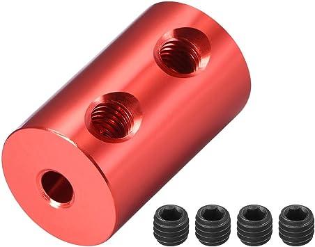Welle Kupplung Roboter Motor Rad Starre Koppler Rot 4mm zu 4mm Bohrung L20xD12
