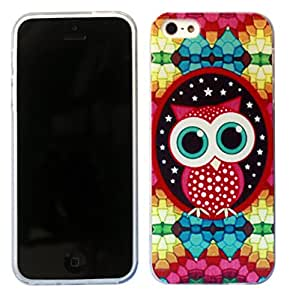 2D iphone 5C Cute Owl Owls Funky Design Fashion Trend SILICONE GEL RUBBER CASE COVER