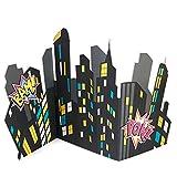 BirthdayExpress Superhero Girl Party Supplies - City Scape Standup
