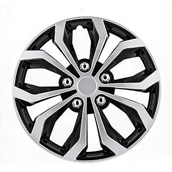 Pilot Automotive WH553-17S-BS Black/Silver 17 Inch 17