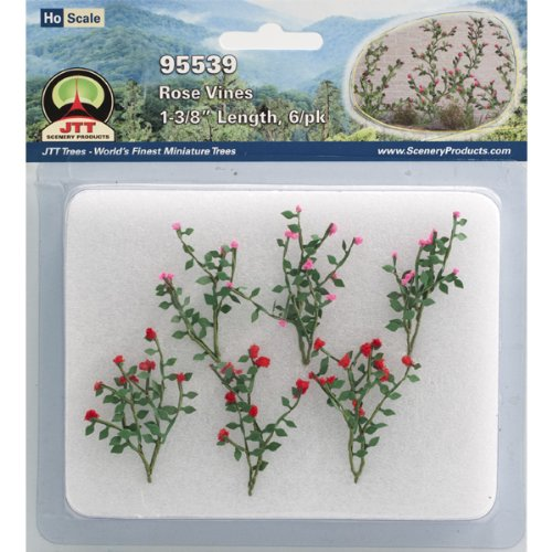 Petal Rose Cottage Accessories (JTT Scenery Products Flowering Plants Rose Vines HO Scale Hobby Train Sceneries)