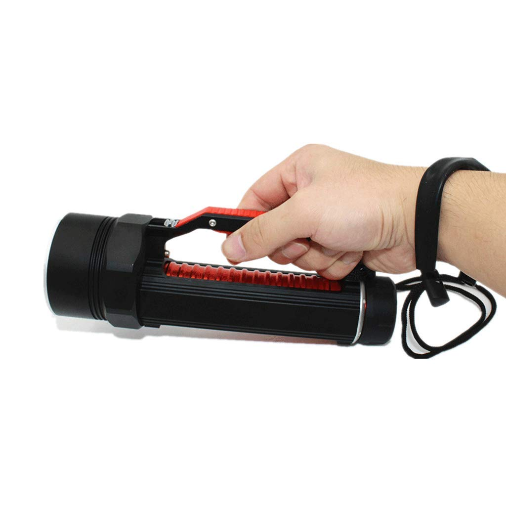 Angel Lampe, Nachtlicht Suchscheinwerfer Scheinwerfer LCD Camping Patrol Taschenlampe Quelle High Zoom 40W High Quelle Power (Farbe : ROT) 0a8781