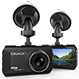 Dash Cam, Qwoo Dash Camera 3' LCD Car Dashboard Camera Vehicle Video Recorder with Full HD 1080P, 170 Degree Wide-Angle 3.8X Zoom, G-Sensor, Night Vision, WDR, Loop Recording, 24 Hours Parking Monitor
